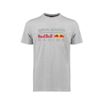 Red Bull Racing férfi póló Large Logo grey 2018