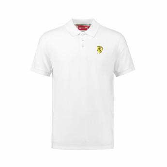 Ferrari férfi galléros póló Classic white F1 Team 2018