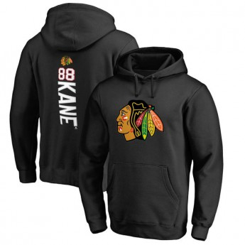 Chicago Blackhawks férfi kapucnis pulóver black Patrick Kane #88 Name & Number