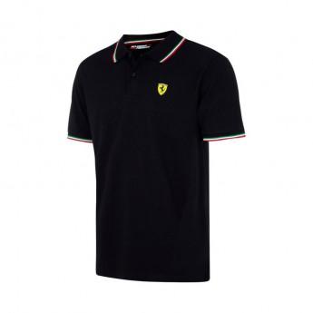 Scuderia Ferrari férfi galléros póló Tricolore black F1 Team 2018