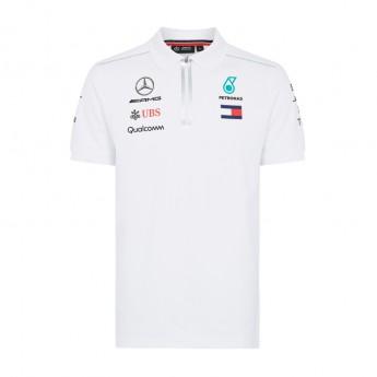 Mercedes AMG Petronas férfi galléros póló white F1 Team 2018