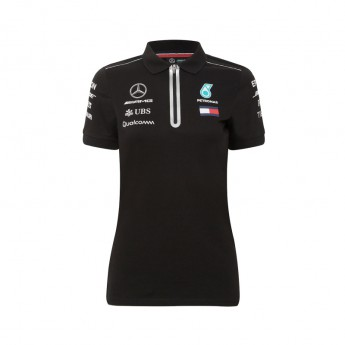 Mercedes AMG Petronas női galléros póló black F1 Team 2018