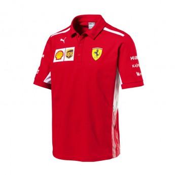 Puma Ferrari férfi galléros póló red F1 Team 2018