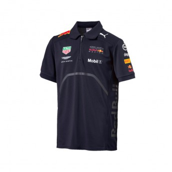 Puma Red Bull Racing gyerek galléros póló navy F1 Team 2018