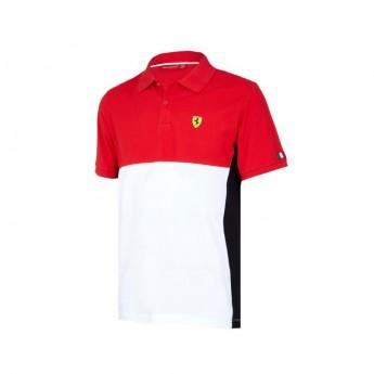 Scuderia Ferrari férfi galléros póló Cut and Sew red F1 Team 2018