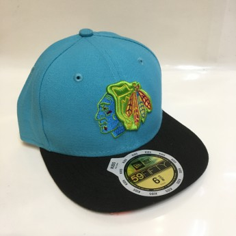 Chicago Blackhawks Gyerek siltes sapka New Era 59Fifty Neon Crown