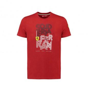 Ferrari férfi póló Track red F1 Team 2018