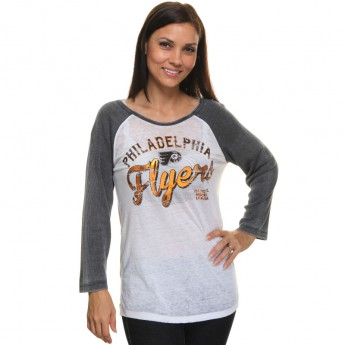 Philadelphia Flyers női póló Relaxed Thermal Burnout Raglan