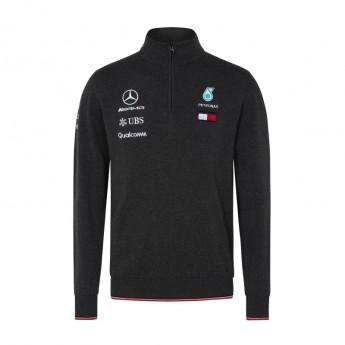 Mercedes AMG Petronas férfi pulóver grey Half Zip F1 Team 2018