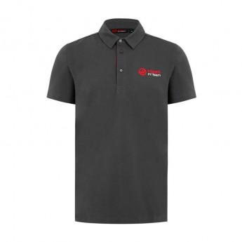 Haas F1 Team férfi galléros póló Logo grey 2018