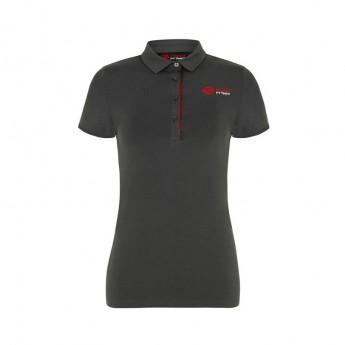 Haas F1 Team női galléros póló Logo grey 2018