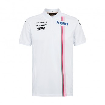 Force India férfi galléros póló white Sahara F1 Team 2018