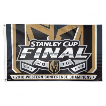 Vegas Golden Knights zászló 2018 Western Conference Champions On-Ice Flag