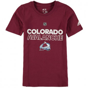 Colorado Avalanche gyerek póló purple Adidas Authentic Ice