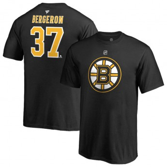 Boston Bruins gyerek póló black #37 Patrice BergeronStack Logo Name & Number