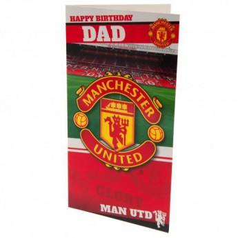 Manchester United születésnapi köszöntő Birthday Card Dad