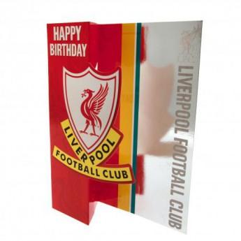 FC Liverpool születésnapi köszöntő Birthday Card