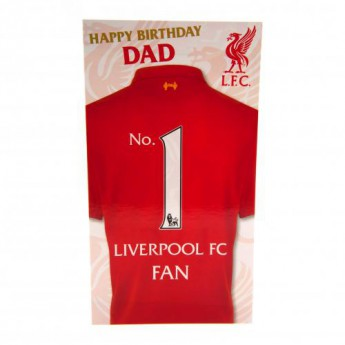 FC Liverpool születésnapi köszöntő Birthday Card Dad