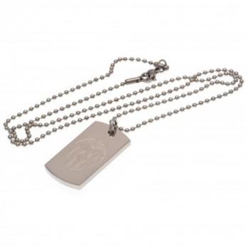 Valencia nyaklánc dögcédulával Engraved Dog Tag & Chain