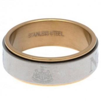 Newcastle United gyűrű Bi Colour Spinner Ring X-Small