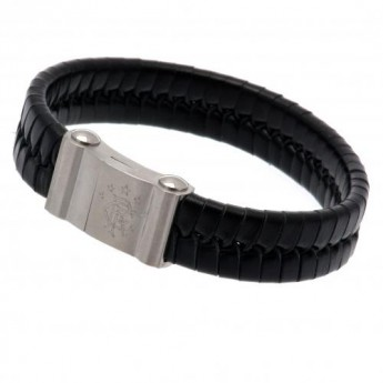FC Rangers bőr karkötő Single Plait Leather Bracelet