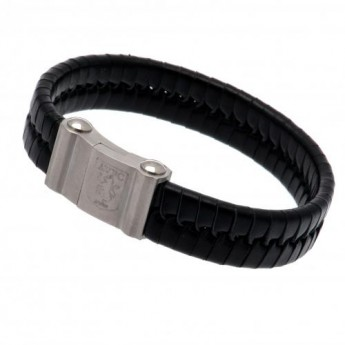 Aston Villa bőr karkötő Single Plait Leather Bracelet