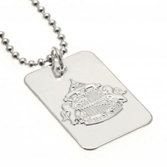Sunderland nyaklánc dögcédulával Silver Plated Dog Tag & Chain