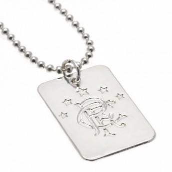 FC Rangers nyaklánc dögcédulával Silver Plated Dog Tag & Chain