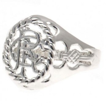 FC Rangers gyűrű Silver Plated Crest Ring Medium