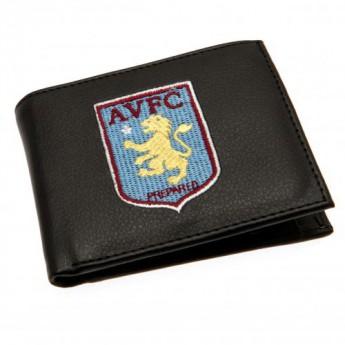 Aston Villa technikai bőr pénztárca Embroidered Wallet