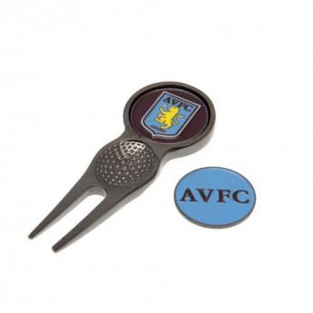 Aston Villa pitch villa és ball maker szett Divot Tool & Marker
