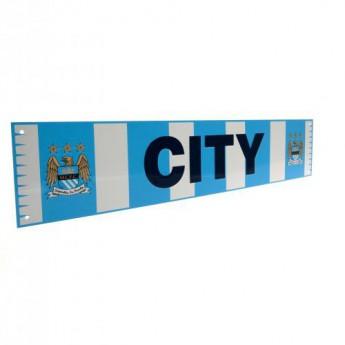 Manchester City fém tábla Bar Scarf Sign