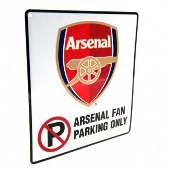FC Arsenal fém tábla No Parking Sign