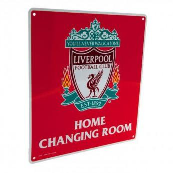 FC Liverpool fém tábla Home Changing Room Sign