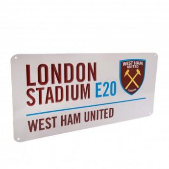 West Ham United fém tábla Street Sign