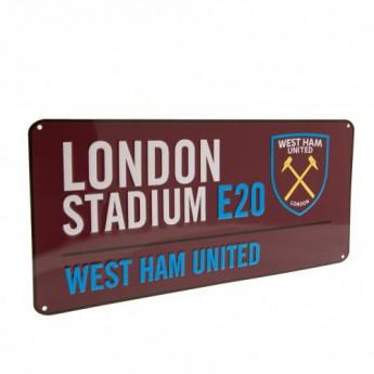 West Ham United fém tábla Street Sign CL