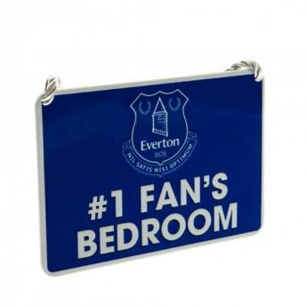 FC Everton hálószoba tábla Bedroom Sign No1 Fan
