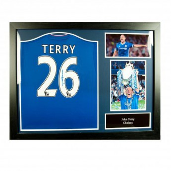 Legendák bekeretezett mez FC Chelsea Terry Signed Shirt (Framed)