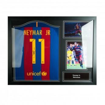 Legendák bekeretezett mez FC Barcelona Neymar Signed Shirt (Framed)