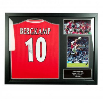 Legendák bekeretezett mez FC Arsenal Bergkamp Signed Shirt (Framed)