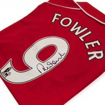 Legendák futball mez FC Liverpool Fowler Signed Shirt