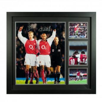 Legendák kép keretben FC Arsenal Bergkamp & Henry Signed Framed Print