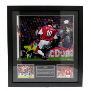 Legendák kép keretben FC Arsenal Bergkamp Signed Framed Print