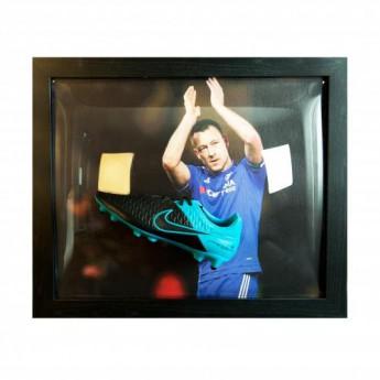 Legendák bekeretezett futballcipő FC Chelsea Terry Signed Boot (Framed)
