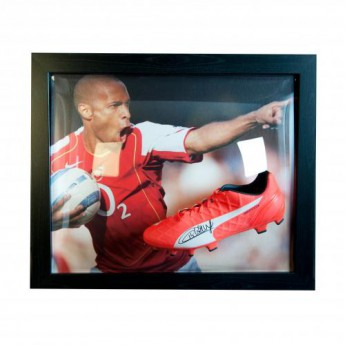 Legendák bekeretezett futballcipő FC Arsenal Henry Signed Boot (Framed)