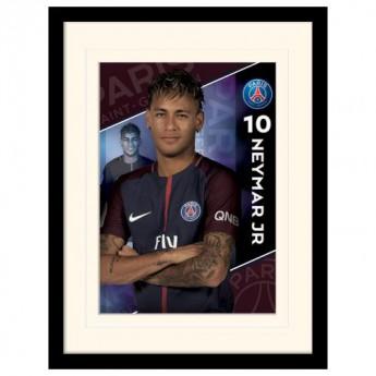 Paris Saint German kép keretben Neymar 16 x 12