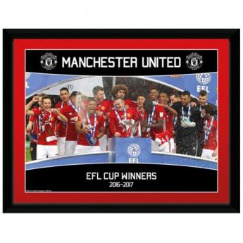 Manchester United kép keretben EFL Cup Winners 16 x 12