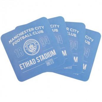 Manchester City söralátét szett 4pk Coaster Set