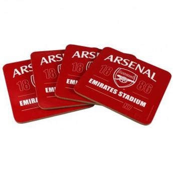 FC Arsenal söralátét szett 4pk Coaster Set