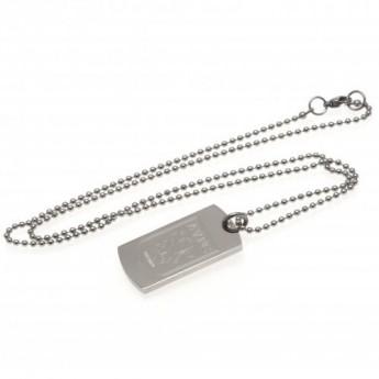 Aston Villa nyaklánc dögcédulával Engraved Dog Tag & Chain